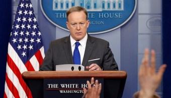 El portavoz de la Casa Blanca, Sean Spicer, sostiene una reunión informativa en la Casa Blanca en Washington, Estados Unidos (Reuters)