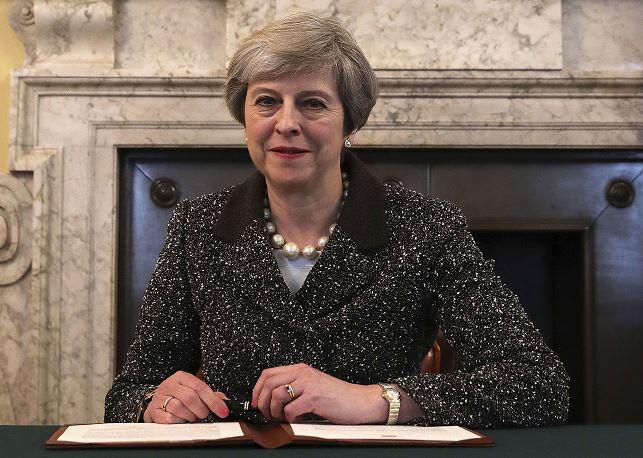 Theresa May, primera ministra británica. (AP)