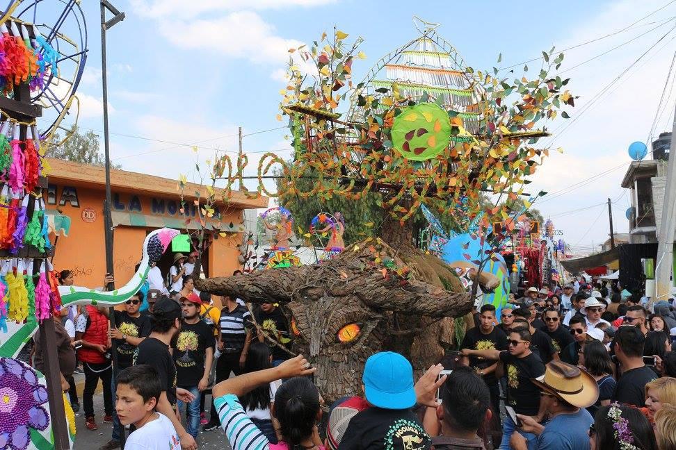 Uno de los toritos más espectaculares del festejo fue 'Hooligans', quien participa desde hace 12 años. (Facebook-Feria Nacional de la Pirotecnia Tultepec)