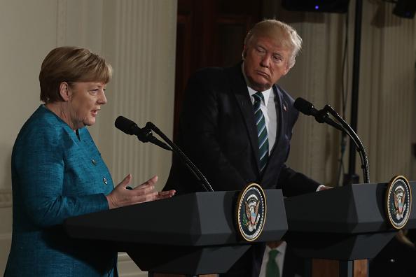 Trump elogió el liderazgo de Merkel en su apoyo en Afganistán (Getty Images)