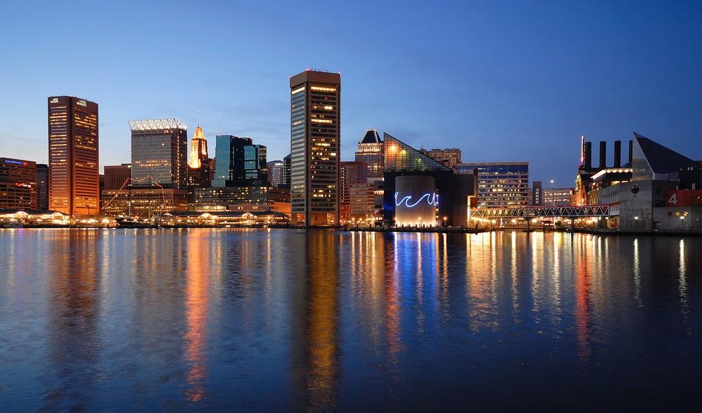 Vista panorámica de Baltimore, la ciudad más poblada de Maryland (CIty-Data.com,)