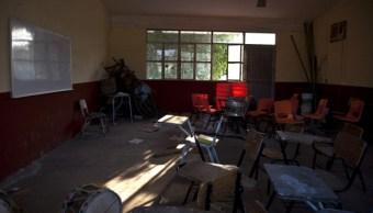 Salón de una escuela primaria en La Chiripa, Nayarit. (Getty Images, archivo)