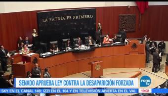 Aprueba, Senado, Ley, Contra, Desaparición, forzada, Noticieros Televisa, Noticias, FOROTv,
