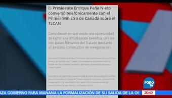 EPN, Habla, Telefono con Trudeau, Noticieros Televisa, Noticias, FOROTv,