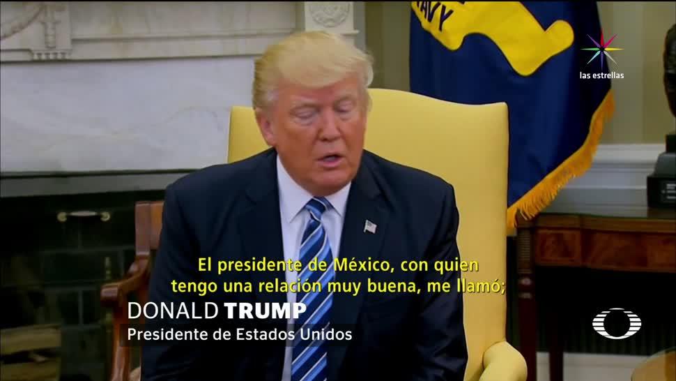 Trump, Explica, Convencieron, Abandonar TLC, TLCAN, Presidente de Estados Unidos