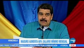 Presidente de Venezuela, Nicolás Maduro, Anuncia, Aumento salarial, Venezuela, Salario Mínimo