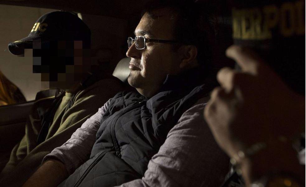 Javier Duarte, tras ser detenido en Panajachél, Guatemala. (AP, archivo)