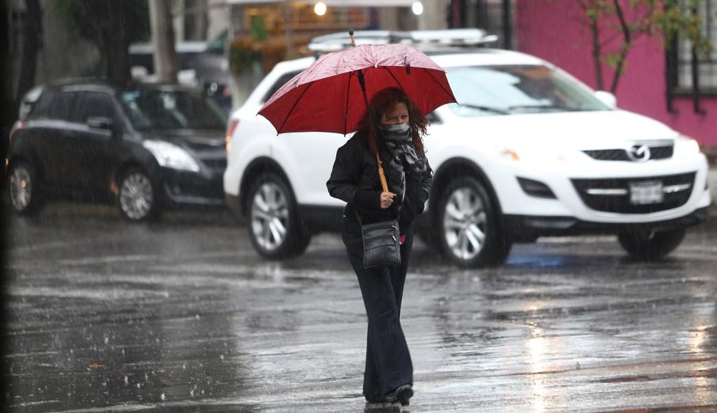 Lluvia en la Ciudad de México. (Notimex)