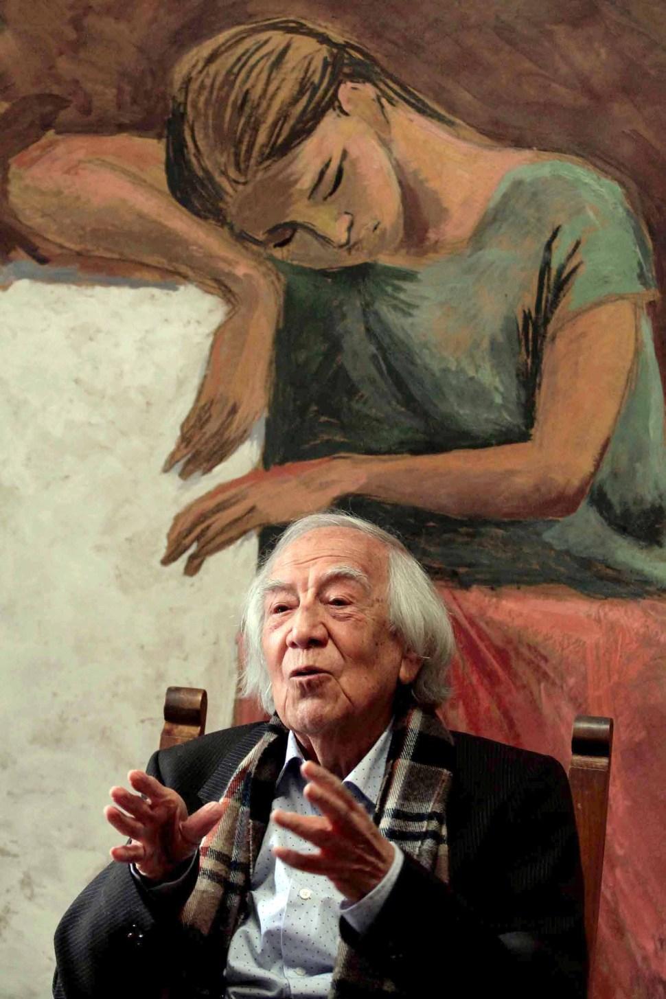 Arturo García Bustos, muralista mexicano. (Notimex)