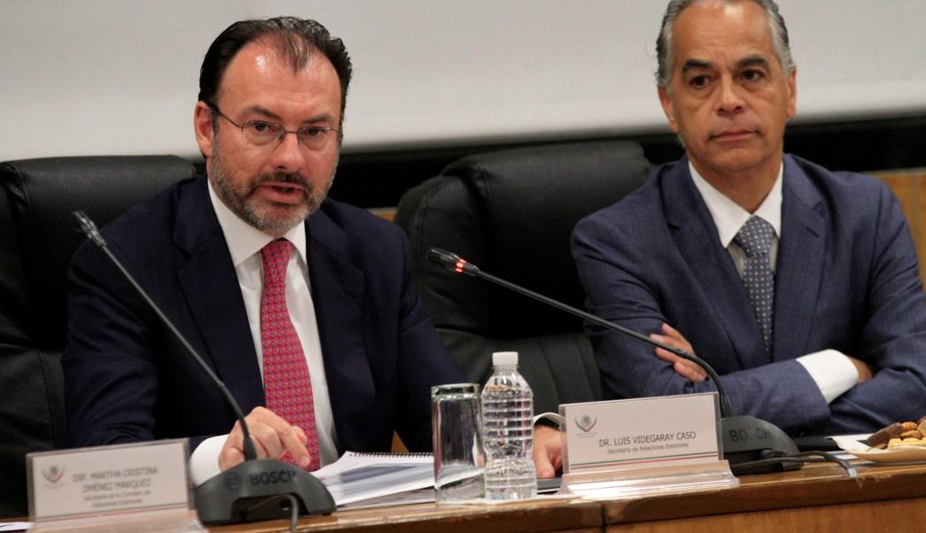 El secretario de Relaciones Exteriores, Luis Videgaray, compareció ante la Comisión de Relaciones Exteriores en la Cámara de Diputados. (Notimex)