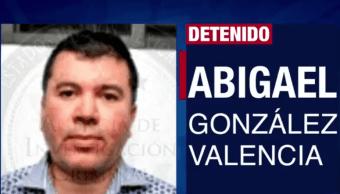 """Abigael González Valencia, líder de la organización criminal """"Los Cuinis"""" se encuentra detenido en México desde el 28 de febrero de 2015 y podría ser extraditado a los Estados Unidos. (Tomada de la tv)"""