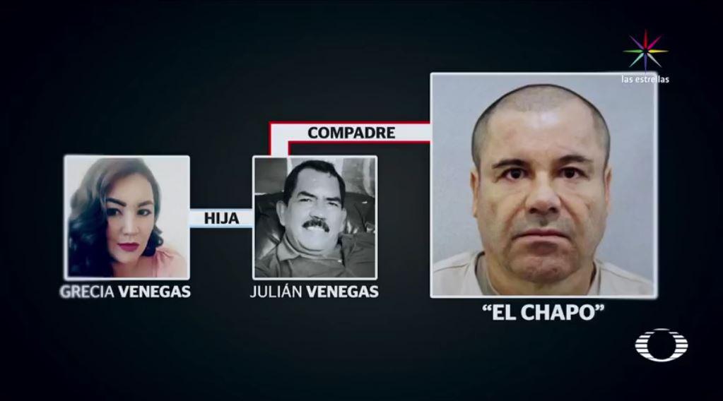 Grecia es hija de Julián Venegas, compadre de Joaquín 'El Chapo' Guzmán, y denuncia que el 1 de abril de 2016 su padre desapareció; un testigo afirma que policías de Nayarit se lo llevaron. (Noticieros Televisa)