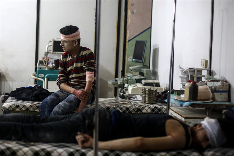 Al menos 72 personas mueren en Siria por un ataque con armas químicas en Khan Sheikhoun. (EFE)