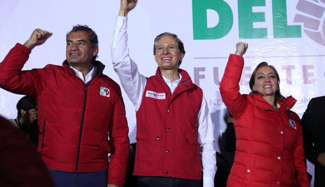 Alfredo del Mazo arranca campaña en Tlalnepantla, Edomex. (Twitter @EnriqueOchoaR)