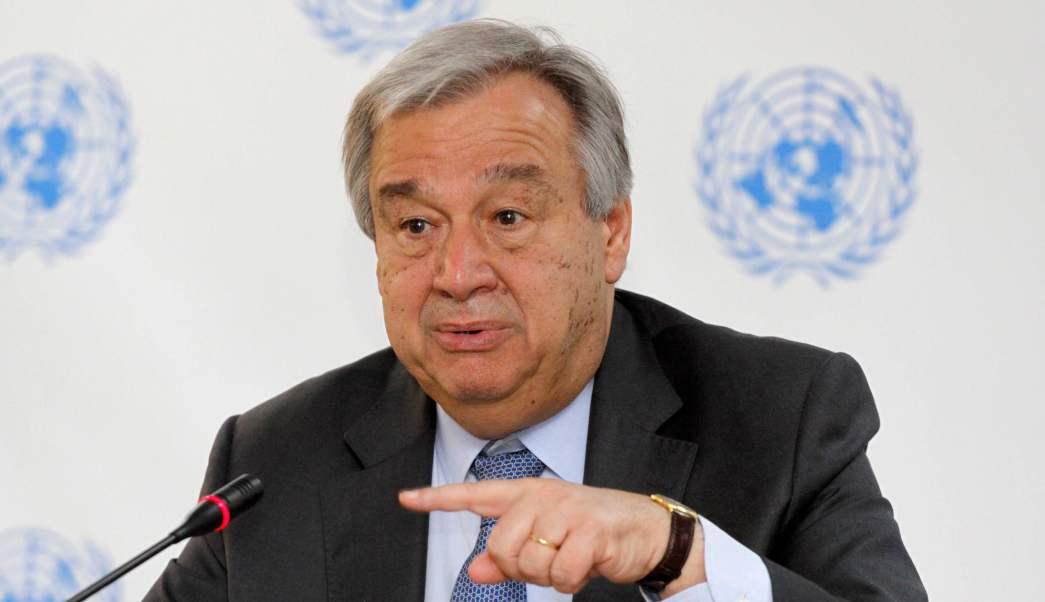 El secretario general de la ONU, Antonio Guterres, durante una conferencia de prensa en Nairobi, Kenya. (AP/archivo)