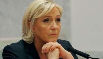 Marine Le Pen asiste a una conferencia en París. (AP)