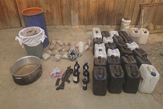 Aseguran en Guerrero sustancias químicas para uso de heroína. (Grupo de Coordinación Guerrero)