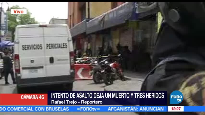 Balacera en plaza comercial del Centro Histórico CDMX deja un muerto