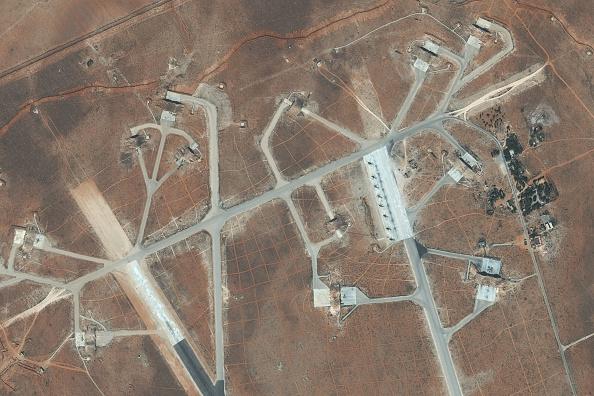 Vista de la base aérea Shayrat. (Getty Images)