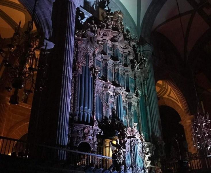 Órgano de la Catedral Metropolitana (Twitter @Catedral_CDMX)