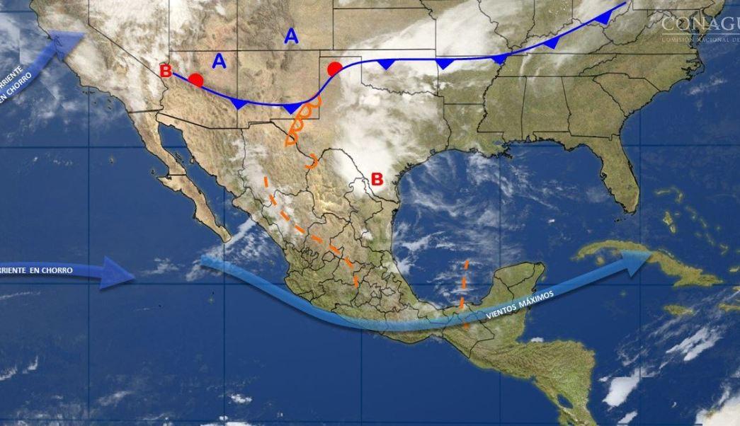 Mapa con el pronóstico del clima para este 17 de abril; seguirán los fuertes vientos en el norte de México. (SMN)