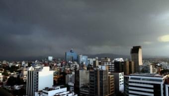 cielo nublado, potencial de lluvia, Ciudad de México, tormentas
