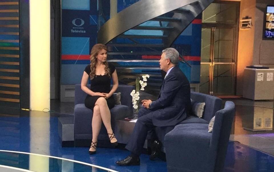 David Penchyna en entrevista para Al aire con Paola. (Twitter, @NTelevisa_com)
