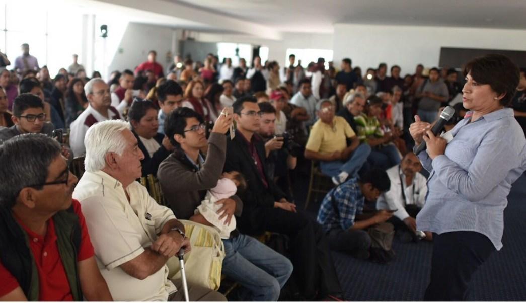 Resultado de imagen para Delfina Gómez, candidata de Morena a la gubernatura del Edomex.