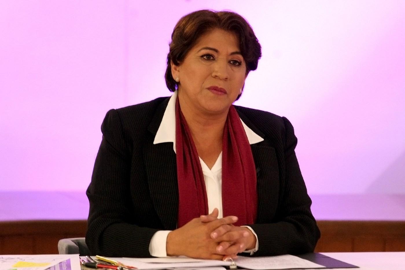 Delfina Gómez, candidata de Morena a la Gubernatura del Estado de México. (Notimex)