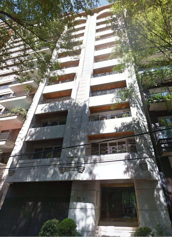 Javier Duarte tiene un departamento en el piso 8 del exclusivo edificio, ubicado en Campos Elíseos 71-B en Polanco. (Google maps)