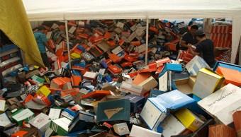 Destruye PGR más de nueve toneladas de productos falsificados en Guanajuato. (PGR)