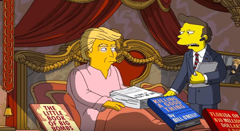 Donald Trump caricaturizado en Los Simpson (YouTube/Animation on FOX)