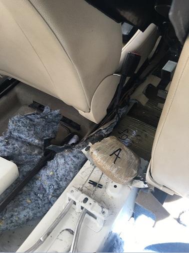 Droga asegurada que era transportada en San Luis Río Colorado (Noticieros Televisa)