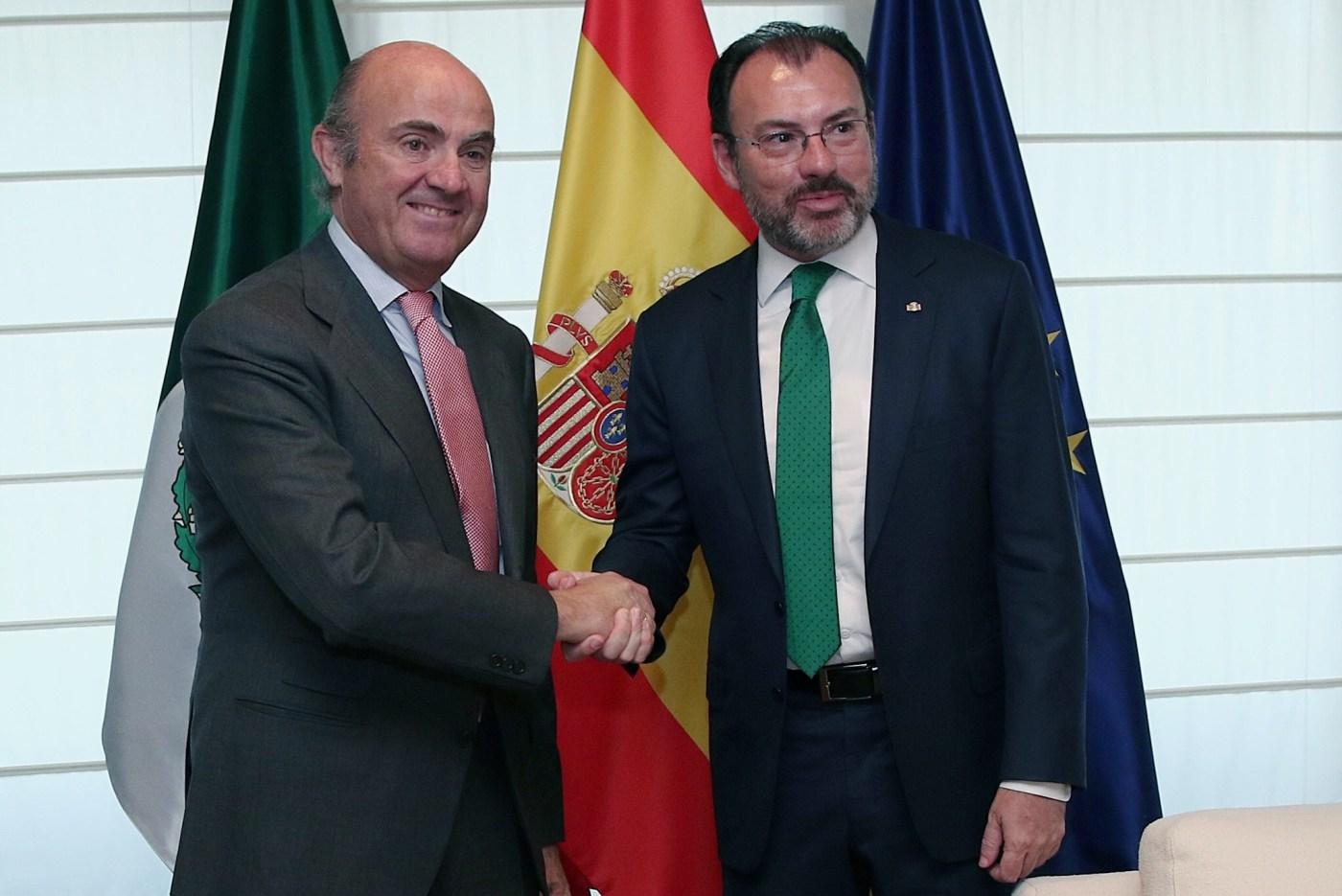 El Canciller Luis Videgaray con Luis de Guindos ministro de Economía de España. (SRE)