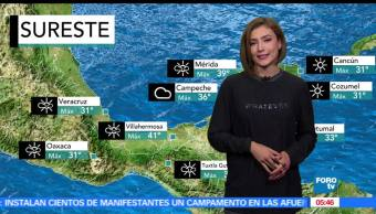 Daniela Álvarez da el pronóstico del tiempo
