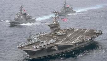 El portaaviones USS Carl Vinson se dirige a la Península de Corea.
