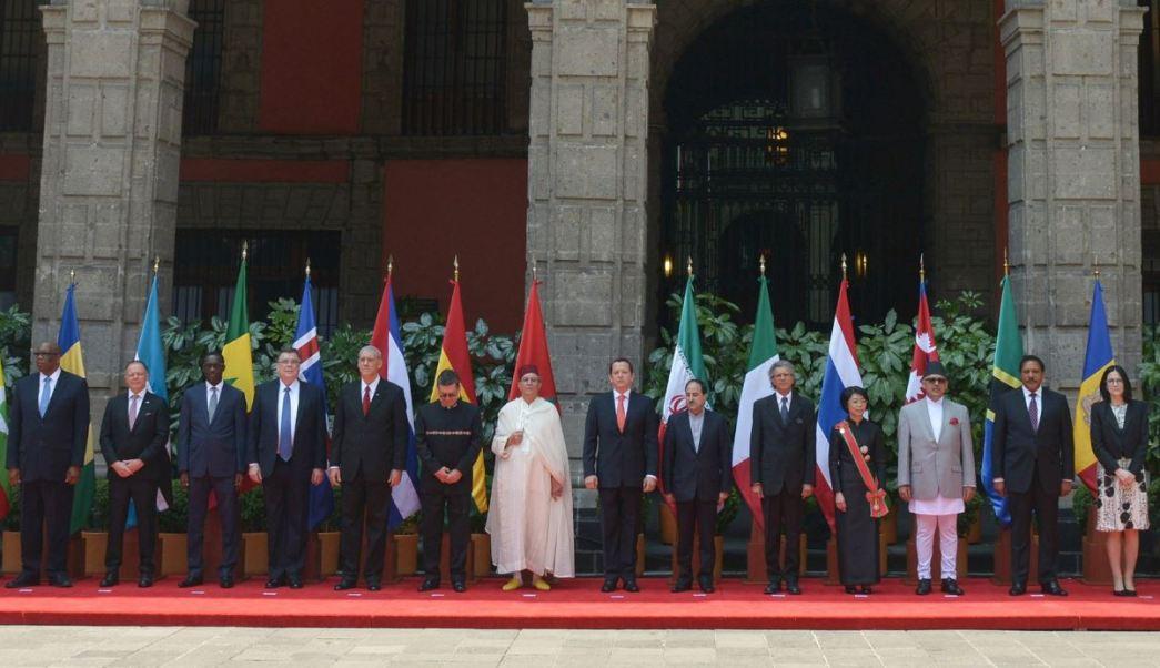 Con la ceremonia de recepción de credenciales se da la bienvenida formal a México a los funcionarios diplomáticos (Twitter/@PresidenciaMX)