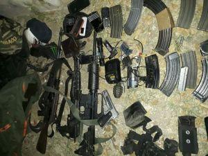 Tras el enfrentamiento aseguraron armamento. (Noticieros Televisa)