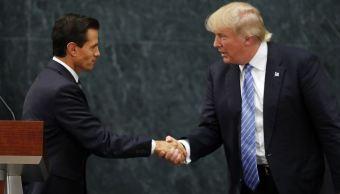 Los presidentes de EU y México, Donald Trump y Enrique Peña Nieto. (AP, archivo)