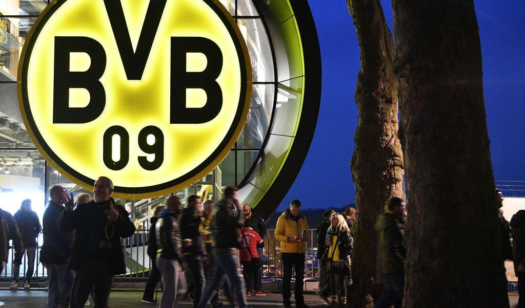 Entrada del estadio del Borussia Dortmund.