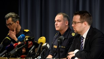 Autoridades del Servicio de Seguridad Sueco durante una reunión informativa de la policía tras el ataque del viernes en el centro de Estocolmo (Reuters)Autoridades del Servicio de Seguridad Sueco durante una reunión informativa de la policía tras el ataque del viernes en el centro de Estocolmo (Reuters)