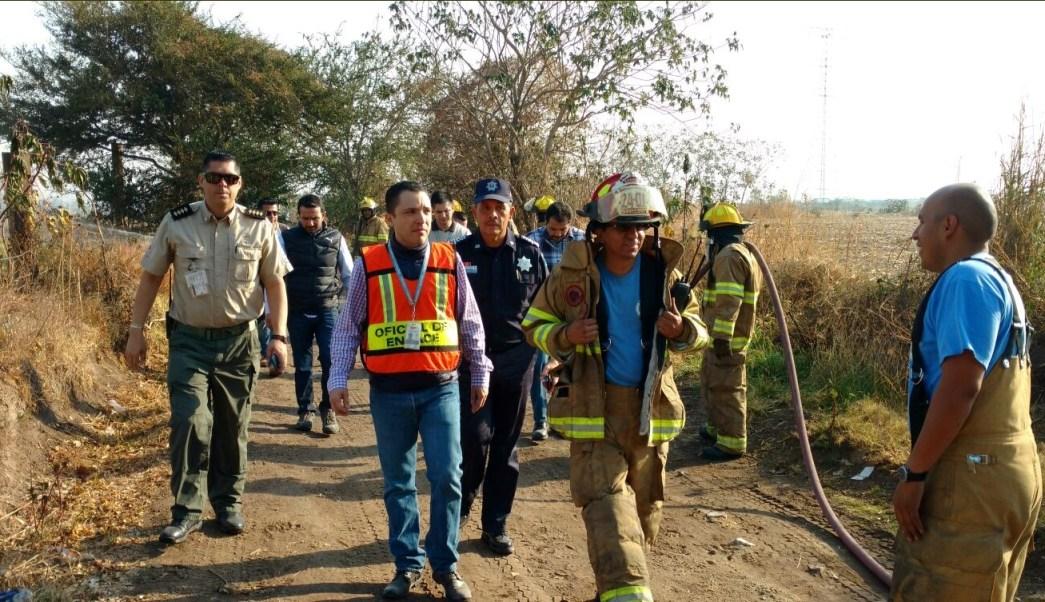 Autoridades controlan mega fuga de combustible en Tlajomulco de Zuñiga, Jalisco (Twitter @hederzona3)