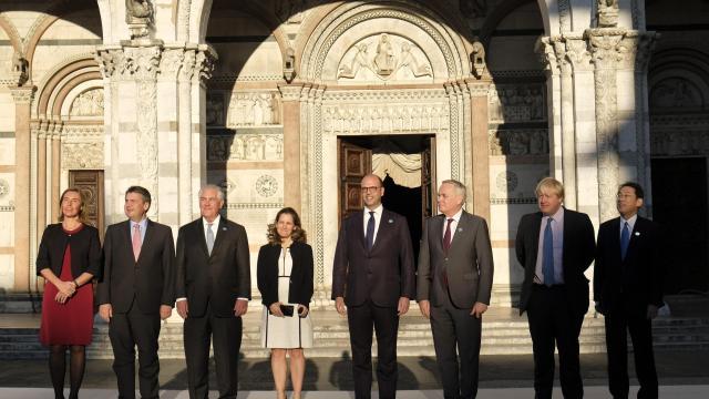El G7 se reunió este martes en Lucca, Italia. (AP)