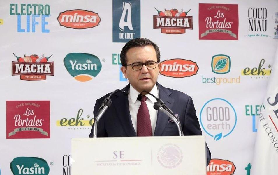 El secretario de Economía, Ildefonso Guajardo Villarreal, dijo que se explora la posibilidad de negociar un Tratado de Libre Comercio con Jordania y con Turquía (Secretaría de Economía)
