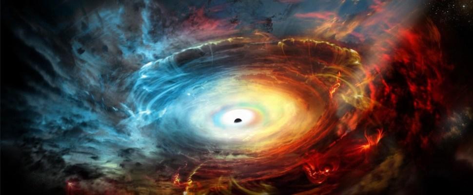 Imagen de un agujero negro publicada por National Geografic; científicos dicen haber obtenido una fotografía de ese fenómeno astrofísico (nationalgeographic.com)