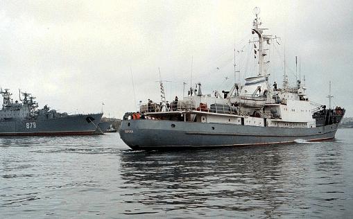 Imagen de archivo del buque ruso de inteligencia 'Liman'. (AP)