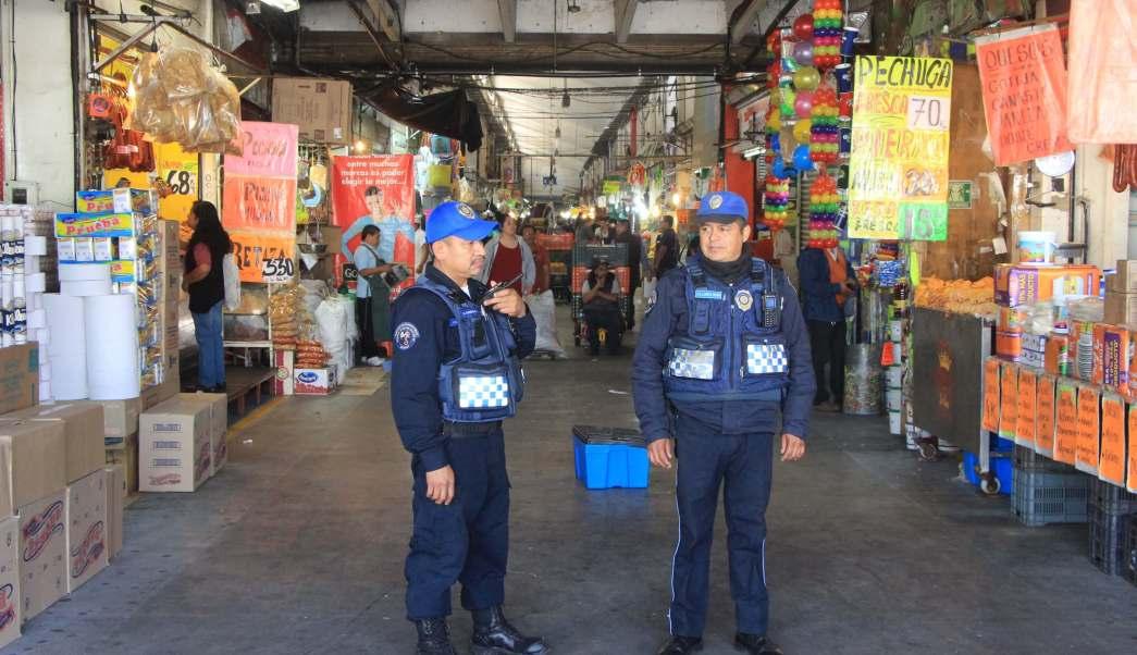 Suman 288 elementos policíacos los encargados de vigilar la seguridad en la Central de Abasto. (SSP-CDMX)