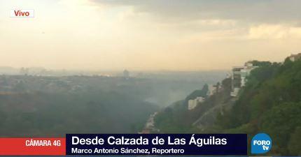El fuego se extiende, pero hasta el momento no ha afectado ninguna zona habitacional (Noticieros Televisa)