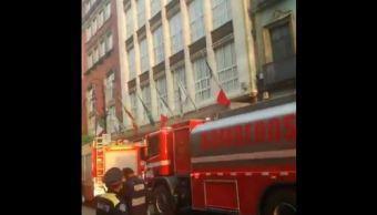 Incendio, Cdmx, Zocalo, Hotel