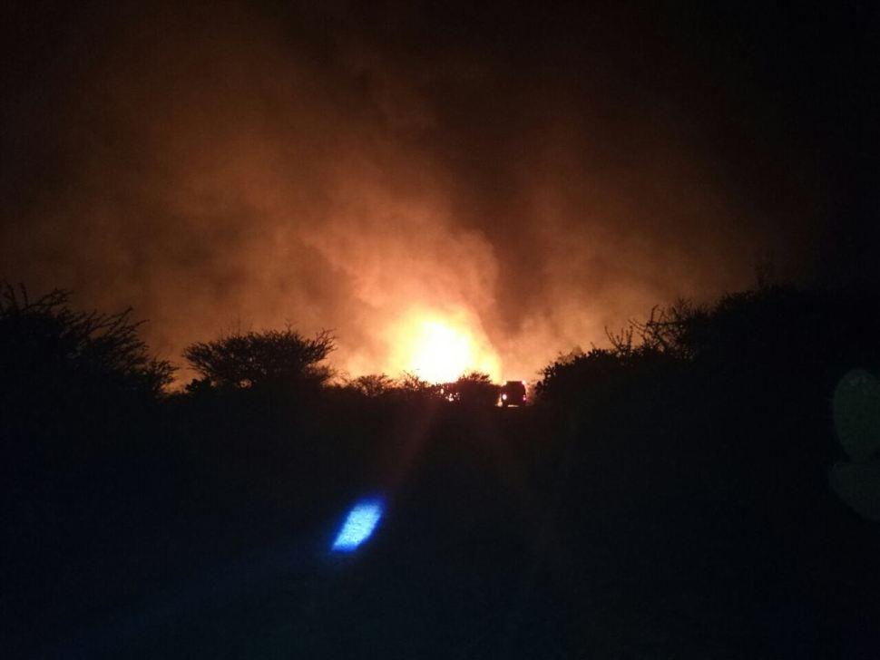 Incendio afecta ducto de Pemex en Tepeji del Río, Querétaro (Noticieros Televisa)